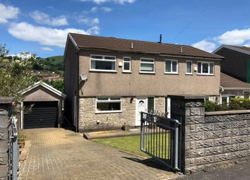 Thumbnail 3 bed semi-detached house for sale in Avondale Court, Porth