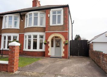 Thumbnail 3 bedroom semi-detached house for sale in St. Albans Avenue, Cardiff
