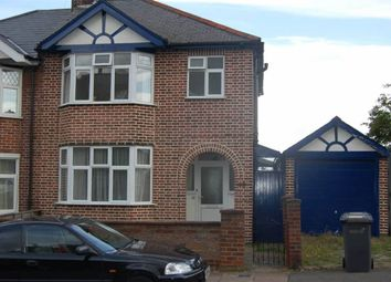 Thumbnail 3 bed semi-detached house to rent in Cowper Street, Luton