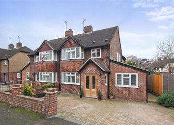 Thumbnail 4 bed semi-detached house for sale in Campbell Road, Weybridge, Surrey