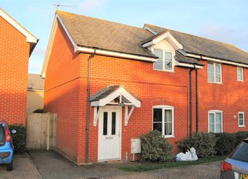 Thumbnail 2 bed semi-detached house for sale in Roman Fields, Woolpit, Bury St. Edmunds