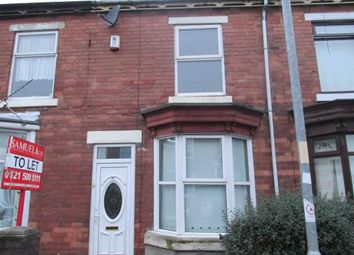 Thumbnail 3 bed terraced house to rent in Manor Road, Walsall