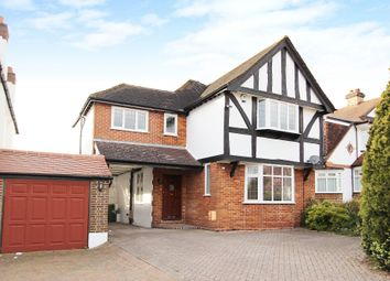 Thumbnail 4 bed detached house to rent in Chadacre Road, Stoneleigh, Epsom
