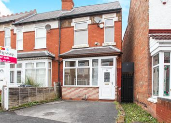 Thumbnail 3 bedroom end terrace house for sale in Grove Road, Sparkhill, Birmingham