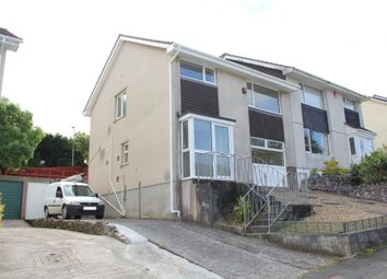 Thumbnail 4 bed semi-detached house to rent in Holcombe Drive, Plymstock, Plymouth