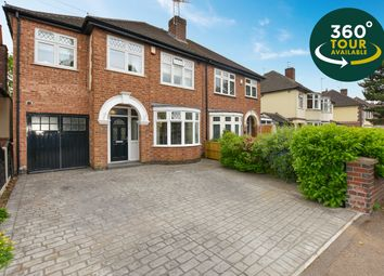 Thumbnail 4 bed semi-detached house for sale in Wigston Road, Oadby, Leicester