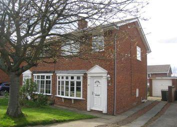 Thumbnail 3 bed semi-detached house to rent in Tetcott Close, Guisborough