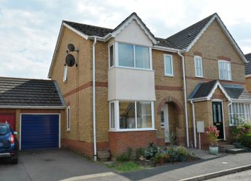 Thumbnail 3 bed semi-detached house for sale in Orton Drive, Witchford