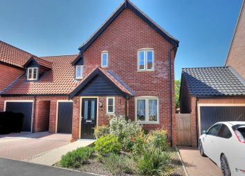 Thumbnail 3 bedroom link-detached house for sale in Honeysuckle Way, Attleborough