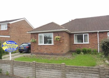 Thumbnail 3 bed semi-detached bungalow for sale in St. Martins Drive, Desford, Leicester