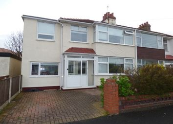 Thumbnail 4 bed semi-detached house to rent in Bleasdale Avenue, Thornton-Cleveleys