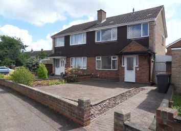 Thumbnail 3 bed semi-detached house for sale in Kimble Drive, Bedford