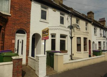 Thumbnail 2 bed terraced house for sale in Park Road, Folkestone, Kent