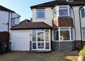 Thumbnail 3 bed semi-detached house to rent in Kedleston Road, Hall Green, Birmingham