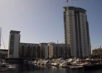 Thumbnail 1 bed flat to rent in Meridian Tower, Maritime Quarter, Swansea
