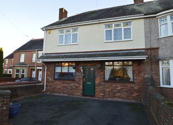 Thumbnail 3 bed semi-detached house for sale in Henblas Road, Rhostyllen, Wrexham