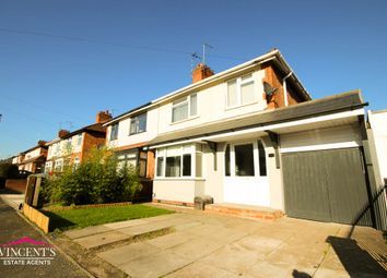 Thumbnail 3 bed semi-detached house for sale in Gwencole Avenue, Leicester