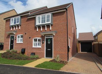 Thumbnail 3 bed semi-detached house to rent in Hawthorn Road, Brixworth, Northampton