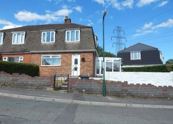 Thumbnail 3 bed semi-detached house for sale in South Bank, Beaufort, Ebbw Vale