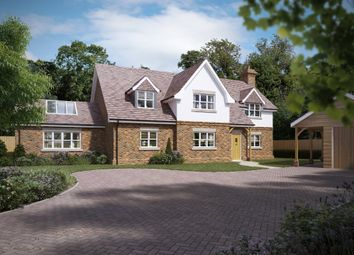 Thumbnail 4 bed detached house for sale in Mud Lane, Eversley, Hook