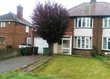 Thumbnail 3 bed semi-detached house to rent in Hobs Moat Road, Solihull