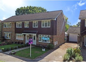 Thumbnail 3 bed end terrace house for sale in Christie Close, Lightwater