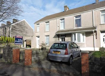 Thumbnail 3 bed terraced house for sale in Llangyfelach Road, Tirdeunaw, Swansea
