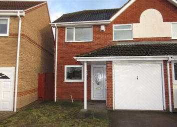 Thumbnail 3 bedroom semi-detached house to rent in Harvest Way, Broughton Astley, Leicester