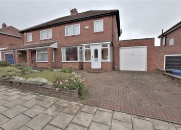 Thumbnail 3 bed semi-detached house for sale in Vancouver Drive, High Heaton, Newcastle Upon Tyne