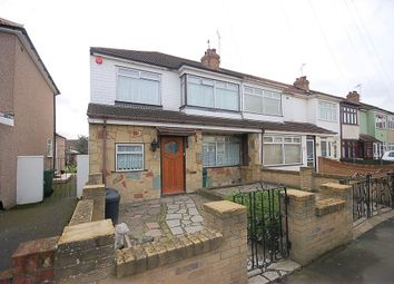 Thumbnail 3 bed end terrace house for sale in Clovelly Gardens, Romford