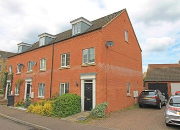 Thumbnail 4 bed town house for sale in Flawn Way, Eynesbury, St. Neots