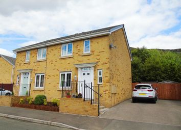 Thumbnail 3 bed semi-detached house for sale in Heol Dinas Isaf, Williamstown, Tonypandy