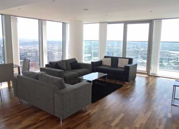 Thumbnail 3 bed flat to rent in Landmark Towers East, London