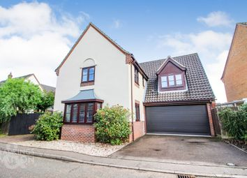 Thumbnail 4 bed detached house for sale in The Ramblers, Poringland, Norwich