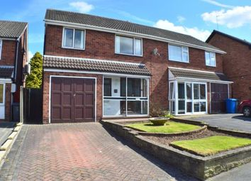 Thumbnail 3 bed semi-detached house for sale in Mallicot Close, Off Wissage Lane, Lichfield, Staffordshire