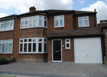 Thumbnail 4 bed semi-detached house to rent in Lodge Avenue, Gidea Park, Romford
