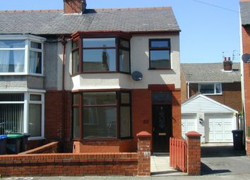 Thumbnail 3 bed end terrace house to rent in Lynton Avenue, Blackpool