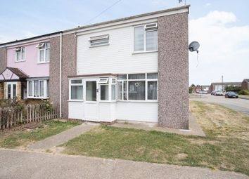 Thumbnail 3 bed end terrace house for sale in Second Avenue, Canvey Island