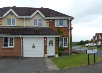 Thumbnail 3 bed semi-detached house for sale in Ascott Drive, Newhall