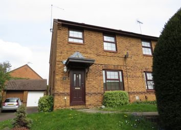 Thumbnail 3 bedroom semi-detached house for sale in Downsway, East Hunsbury, Northampton