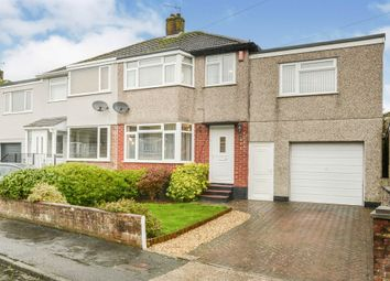 Thumbnail 4 bed semi-detached house for sale in Priory Drive, Plympton, Plymouth