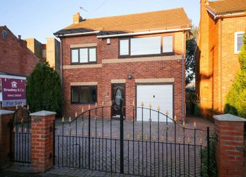 Thumbnail 4 bed detached house for sale in Fourteen Meadows Road, Poolstock, Wigan