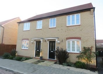 Thumbnail 3 bedroom semi-detached house to rent in Rowell Way, Sawtry, Huntingdon