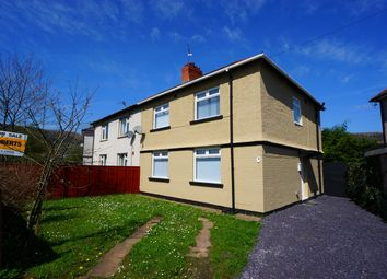 Thumbnail 4 bed semi-detached house for sale in Newport Road, Risca, Newport