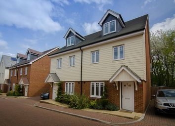 Thumbnail 4 bed semi-detached house for sale in Elham Crescent, Dartford, Kent