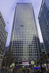 Thumbnail Serviced office to let in One Canada Square, London