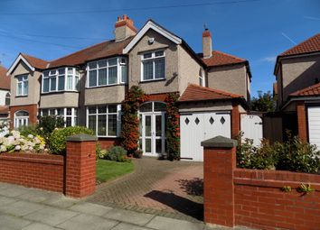 Thumbnail 4 bed semi-detached house for sale in Brentwood Avenue, Crosby, Liverpool