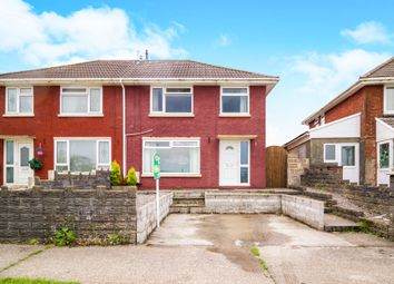 Thumbnail 3 bed semi-detached house for sale in Pen Parcau, Bettws, Bridgend