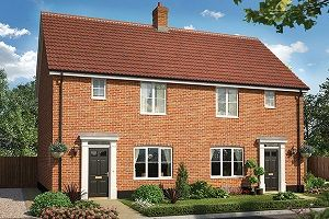 Thumbnail 3 bedroom semi-detached house for sale in The Wright, Cromer Road, Holt, Norfolk
