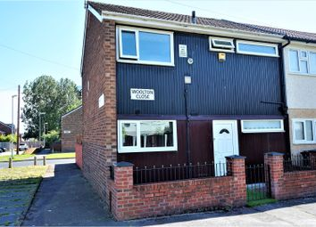 Thumbnail 3 bed end terrace house for sale in Woolton Close, Manchester
